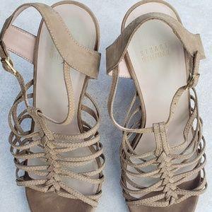 Stuart Weitzman Strappy Wedge Heel Sandals